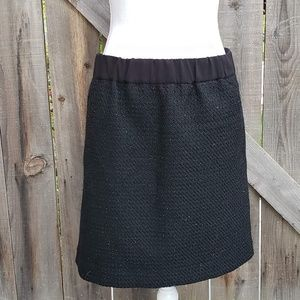 Ann Taylor LOFT BlackTweed Pencil Mini Skirt